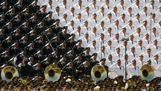 A military parade in China