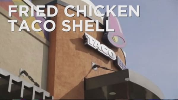 Taco Bell debuts the 'naked crispy chicken taco'