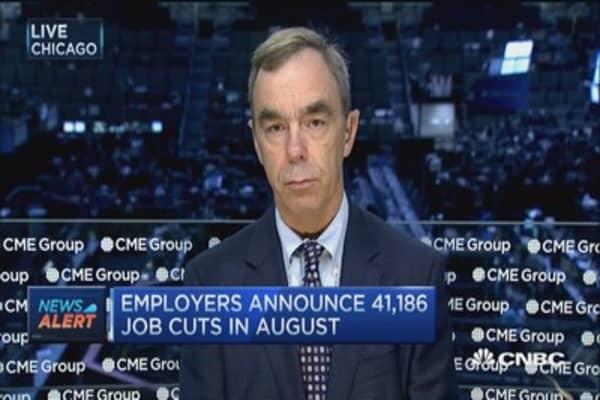 August job cuts plunge 60%