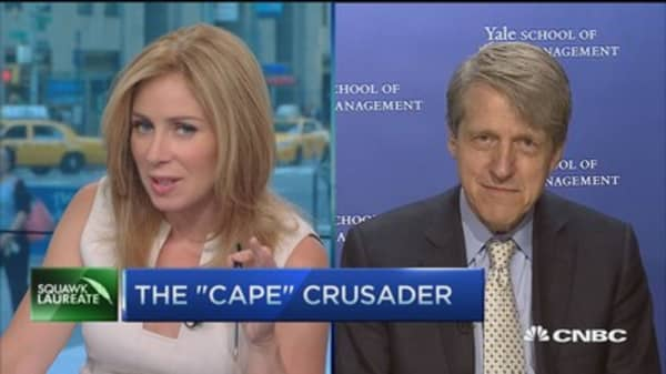 CAPE indicates Dow could fall further: Robert Shiller