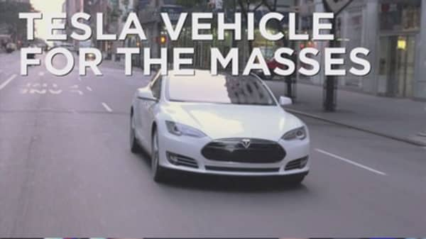 Tesla rolls out cars for the masses
