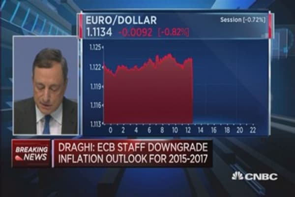 Projecting 'very low' inflation: Draghi