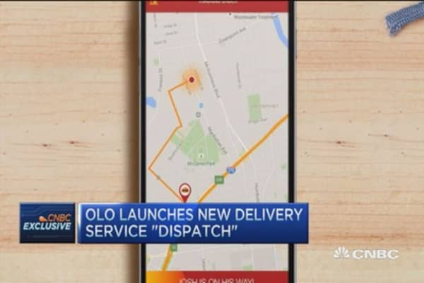 Chipotle, Cold Stone delivery from your phone