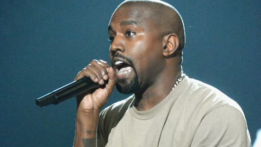 Recording artist Kanye West accepts the Video Vanguard Award onstage during the 2015 MTV Video Music Awards at Microsoft Theater on August 30, 2015 in Los Angeles.