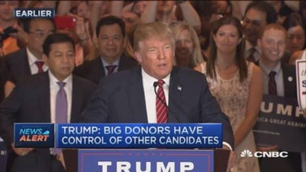 Trump: I pledge allegiance to Republican party
