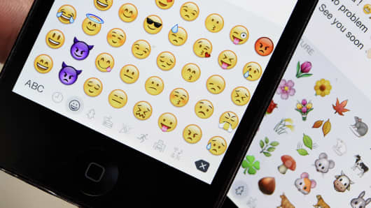 Emojis on mobile phones