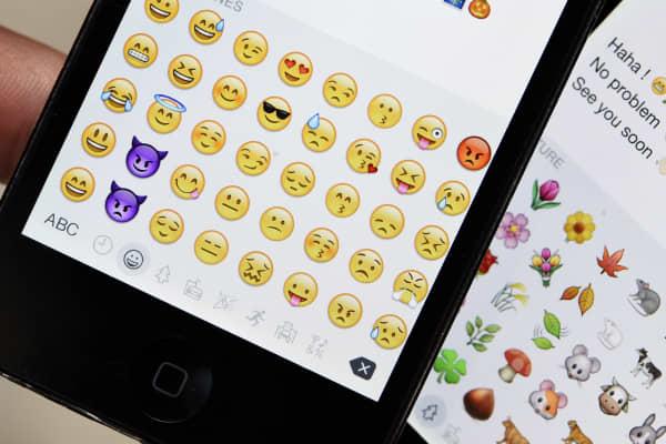 Emojis on mobile phones