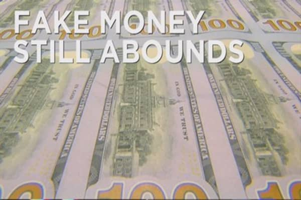 Counterfeit money is still a big problem