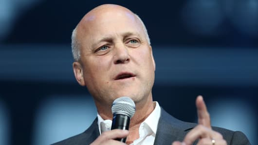 New Orleans Mayor Mitch Landrieu speaking August 29, 2015.