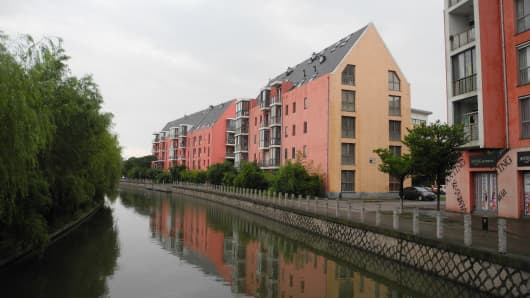 A town with a German feel in Anting in Jiading District, Shanghai