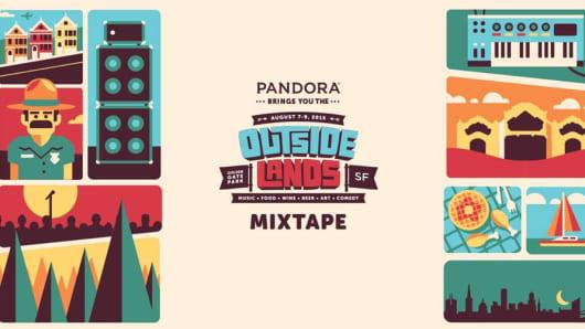 Pandora promotion for Outside Lands.