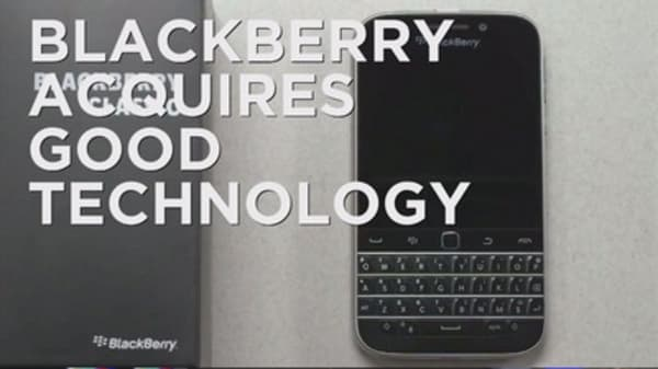 BlackBerry acquires Good Technology