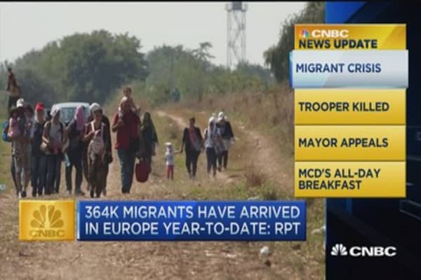 CNBC update: 364K migrants to Europe this year