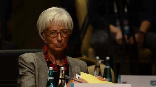 Christine Lagarde, managing director of the International Monetary Fund, at a G-20 labor and employment ministers' meeting in Ankara, Turkey, on September 4.