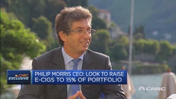 E-cigs are not zero-risk products: Philip Morris CEO