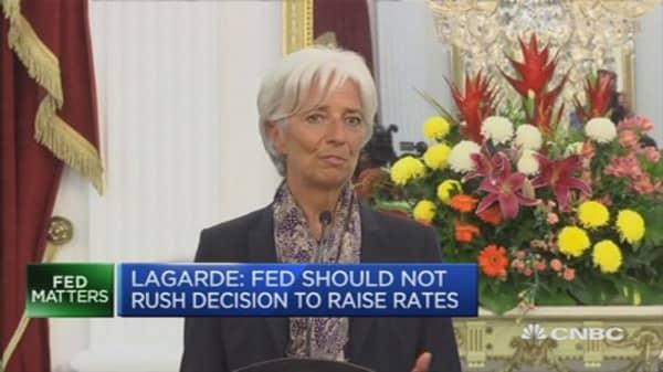 Bubbles eventually burst: Lagarde