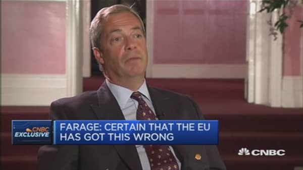 Migrant influx putting security at risk: Farage