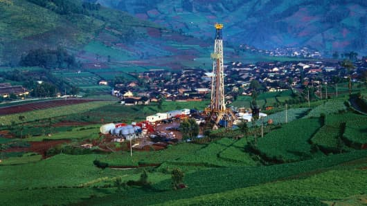 Indonesia oil well