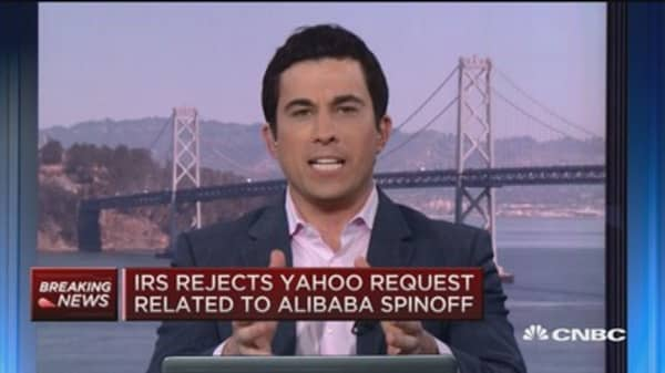 IRS rejects Yahoo request re: BABA spinoff