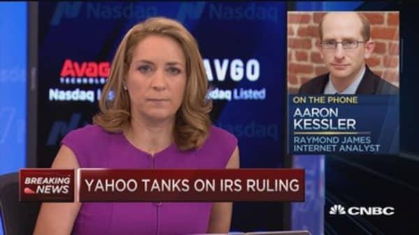 Yahoo tanks on IRS ruling