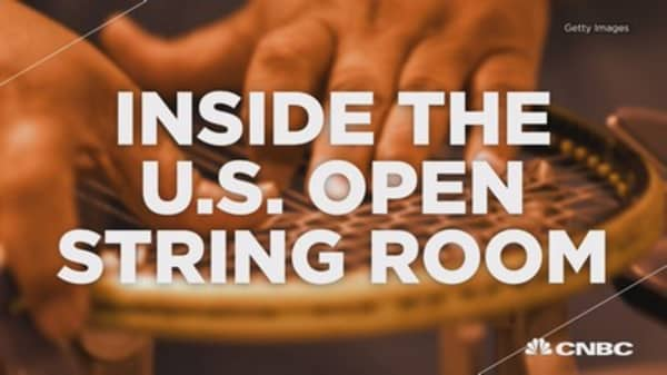 Inside the US Open string room