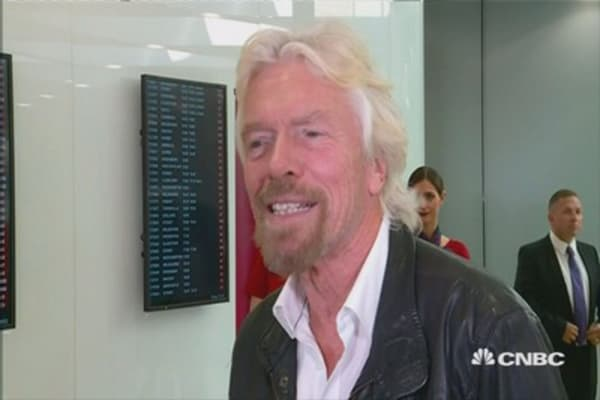 Branson: 'I'm very proud of Virgin Australia'