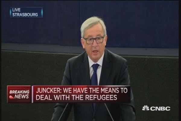EU has the means to deal with refugees: Juncker