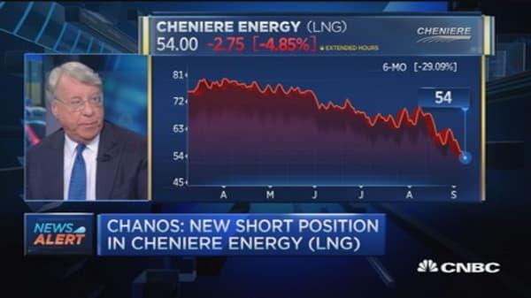 Chanos' new big short? Cheniere Energy