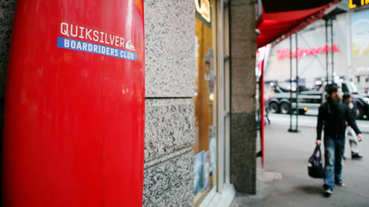 A Quiksilver store