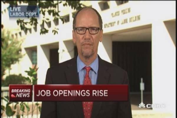 JOLTS:  Job openings reach record level