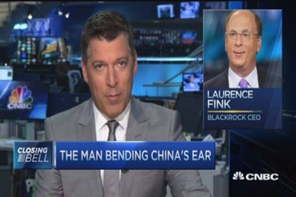 BlackRock CEO travels to China