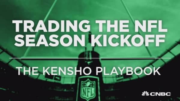 Here's how to trade the NFL season kickoff