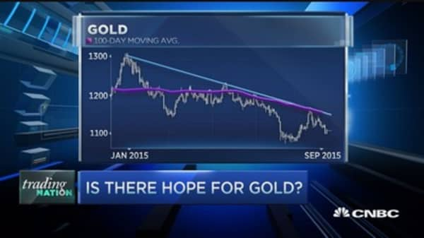 Gold can't catch a break