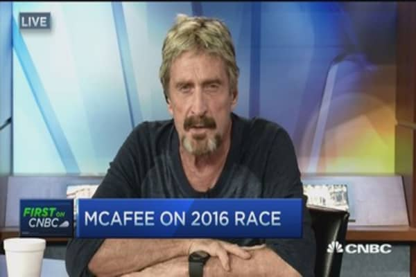 John McAfee running for president