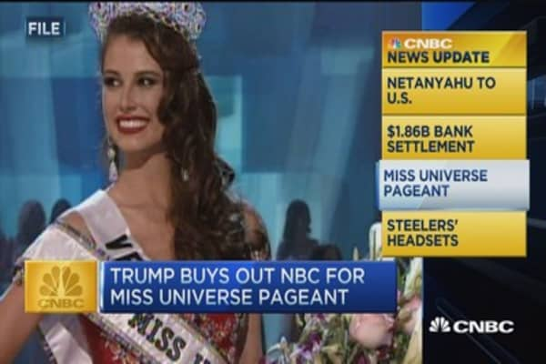 CNBC update: Trump buys out for Miss Universe Pageant
