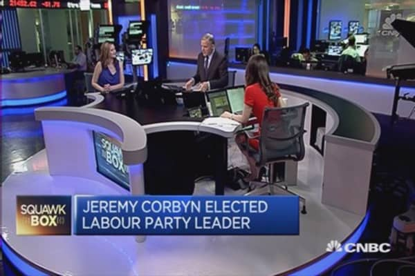 Jeremy Corbyn elected as leader of the UK Labour party