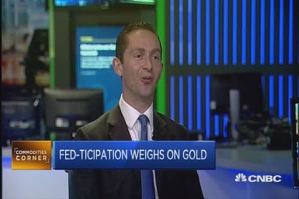 'Fed-ticipation' weighs on gold