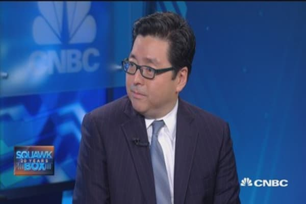 Tom Lee: Bottom's in for small caps