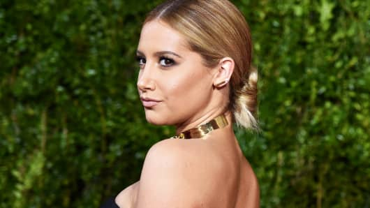 Ashley Tisdale attends the 2015 Tony Awards at Radio City Music Hall on June 7, 2015 in New York City.
