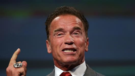 "Arnold Schwarzenegger to replace Donald Trump as host of ""Celebrity Apprentice""."