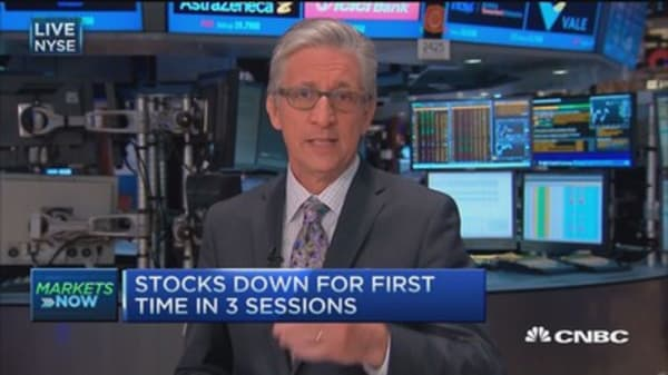 Pisani: Stocks near session lows
