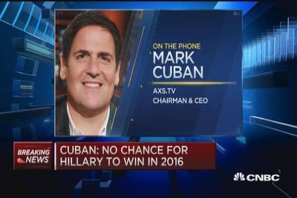 No chance Hillary can win: Mark Cuban