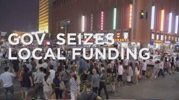 Chinese authorities seize local funding