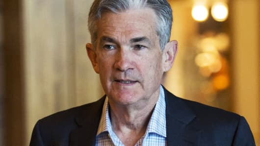 Federal Reserve Governor Jerome Powell attends the Federal Reserve Bank of Kansas City's annual Jackson Hole Economic Policy Symposium in Jackson Hole, Wyoming.