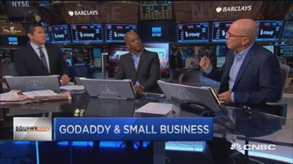 GoDaddy's small business view