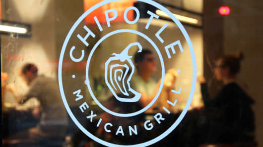 A Chipotle restaurant in New York.