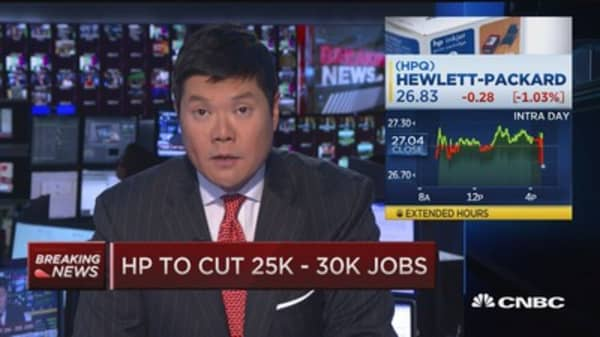 HP to cut 25k-30k jobs