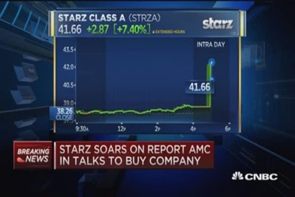 AMC in talks to buy Starz: Report