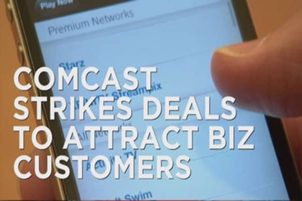 Comcast strikes deal to attract biz customers