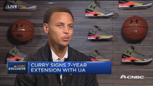Happy to represent Under Armour: NBA's Curry
